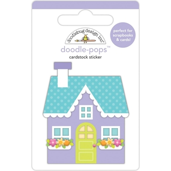 Doodlebug COZY COTTAGE Doodle Pops 3D Sticker Simply Spring 6239