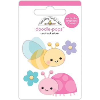 Doodlebug BLOOMIN' BUGS Doodle Pops 3D Stickers Simply Spring 6236