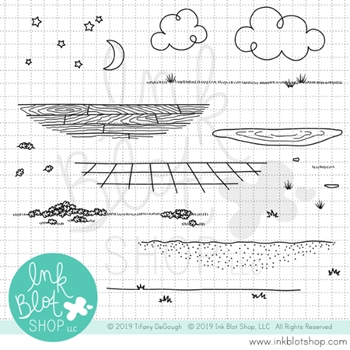 Ink Blot Shop Clear Stamp Set GET GROUNDED inbl056