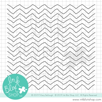 Ink Blot Shop Clear Stamp Set QUIRKY CHEVRON BACKGROUND inbl062