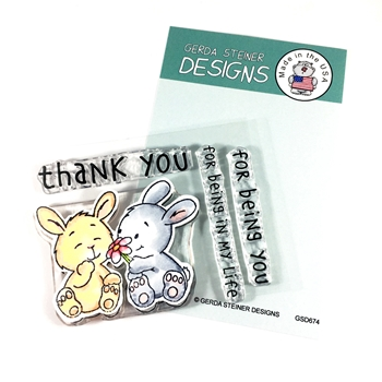 Gerda Steiner Designs BUNNY FRIENDS Clear Stamp Set gsd674