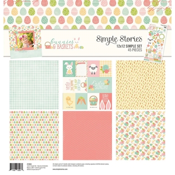 Simple Stories BUNNIES AND BASKETS 12 x 12 Collection Kit 10684
