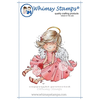 Whimsy Stamps ANGEL ARIEL Rubber Cling Stamp MF130