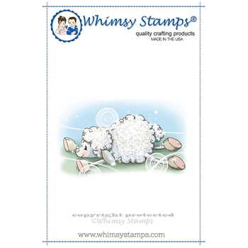 Whimsy Stamps LAMB SLIDES Rubber Cling Stamp C1257