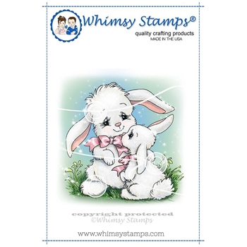 Whimsy Stamps BUNNY MOM Rubber Cling Stamp C1272