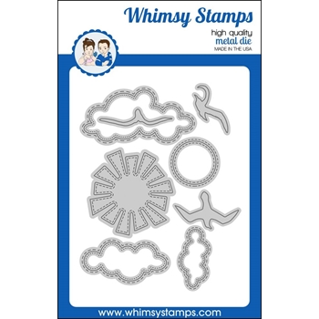 Whimsy Stamps UP IN THE CLOUDS Dies WSD365