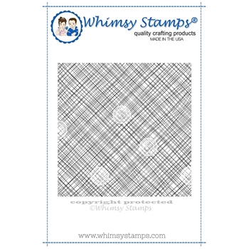 Whimsy Stamps MESSY MESH BACKGROUND Rubber Cling Stamp DDB0020