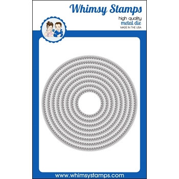 Whimsy Stamps STITCHED AND PEIRCED CIRCLE Dies WSD368