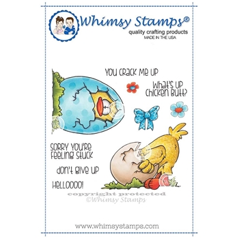 Whimsy Stamps YOU CRACK ME UP Rubber Cling Stamps DP1006