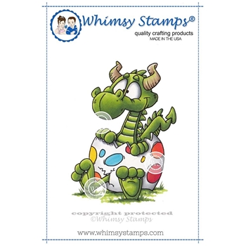 Whimsy Stamps DRAGON EGG Rubber Cling Stamp DP1005