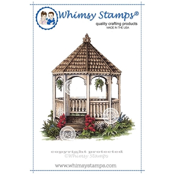 Whimsy Stamps GAZEBO Rubber Cling Stamp DA1108