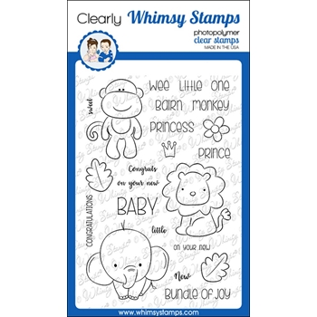 Whimsy Stamps JUNGLE BABIES Clear Stamps CWSD239