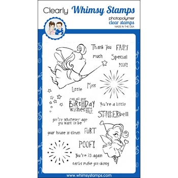 Whimsy Stamps STINKER BELL Clear Stamps CWSD158