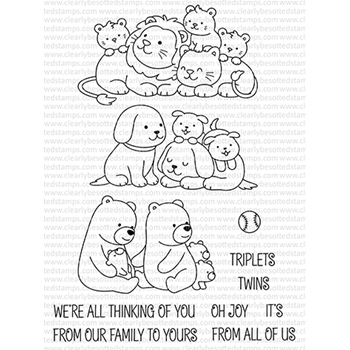 Clearly Besotted BABY ANIMALS Clear Stamps