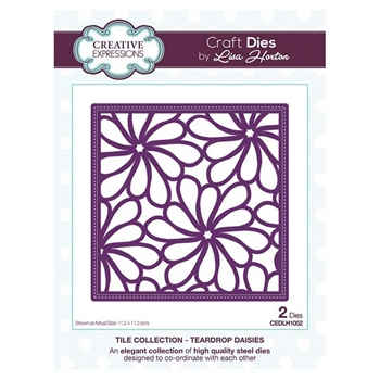 Creative Expressions TEARDROP DAISIES Tile Collection Dies cedlh1052