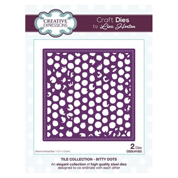 Creative Expressions BITTY DOTS Tile Collection Dies cedlh1053