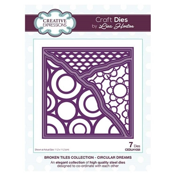 Creative Expressions CIRCULAR DREAMS Broken Tile Collection Dies cedlh1058