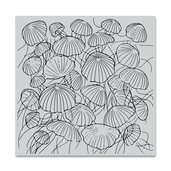 Hero Arts Cling Stamp JELLYFISH Bold Prints CG772