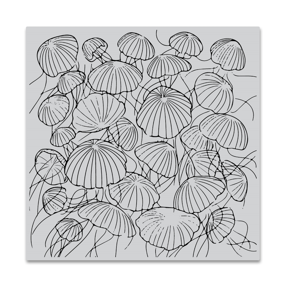 Hero Arts Cling Stamp JELLYFISH Bold Prints CG772 zoom image