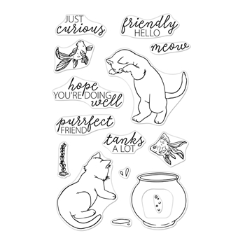 Hero Arts Clear Stamps CURIOUS CAT CM347