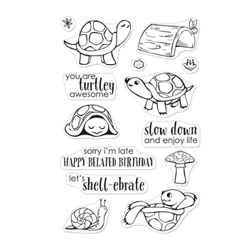 Hero Arts Clear Stamps PET TURTLE CM345