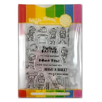 Waffle Flower BATTER Clear Stamp and Die Combo WFC233
