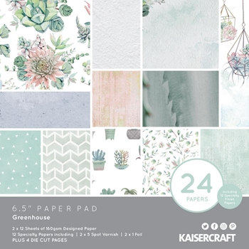 Kaisercraft GREENHOUSE 6.5 Inch Paper Pad PP1064