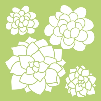 Kaisercraft SUCCULENTS 6x6 Inch Designer Stencil Template IT487