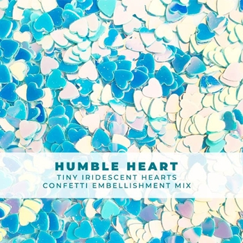 Trinity Stamps HUMBLE HEART ITTY-BITTY IRIDESCENT CONFETTI Embellishment Bag 1549242919