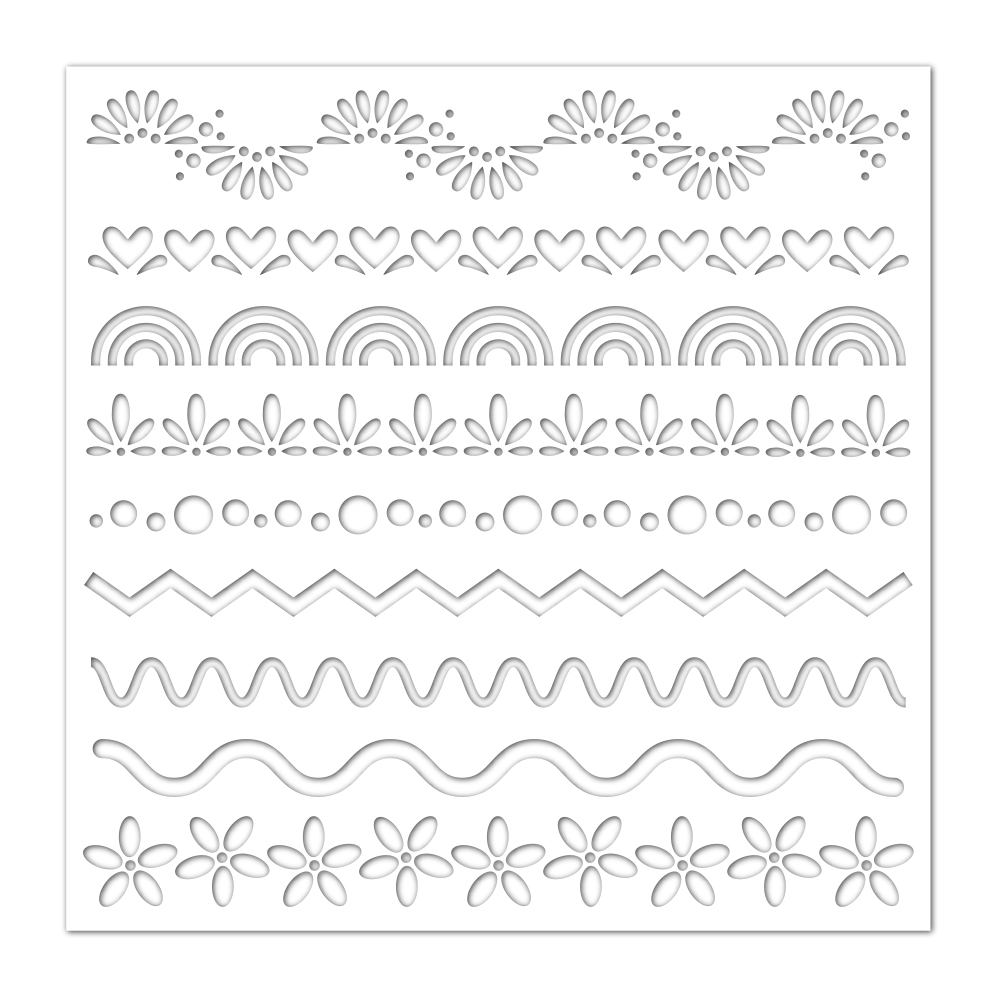 Simon Says Stamp Stencil DECORATIVE SEGMENTS ssst121436 Fresh Bloom zoom image