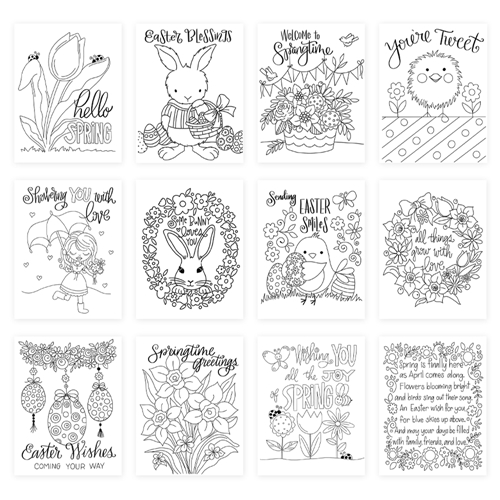 Simon Says Stamp Suzy's YOU'RE TWEET Watercolor Prints szwcyt19 Fresh Bloom Preview Image