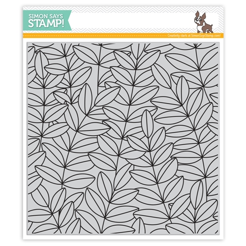 Simon Says Cling Rubber Stamp OUTLINE LEAVES BACKGROUND sss101960 Fresh Bloom Preview Image