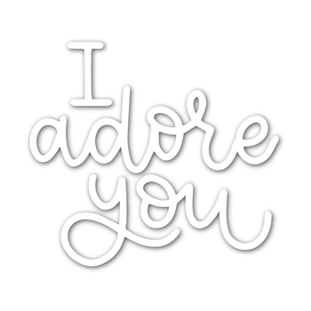 Simon Says Stamp I ADORE YOU Wafer Die sssd111956 Fresh Bloom