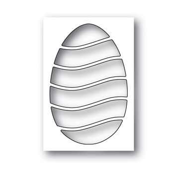 Simon Says Stamp WAVY EGG Wafer Die s640 Fresh Bloom