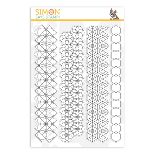 RESERVE Simon Says Clear Stamps GEOMETRIC PATTERN BUILDER sss201946 Fresh Bloom Preview Image
