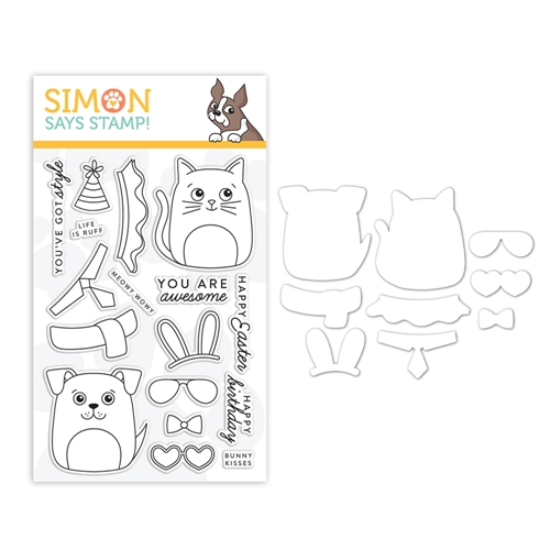 Simon Says Stamps And Dies DOG & CAT DRESS UP set0319dac Fresh Bloom Preview Image