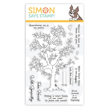 Simon Says Clear Stamps BLOSSOMING sss101962 Fresh Bloom