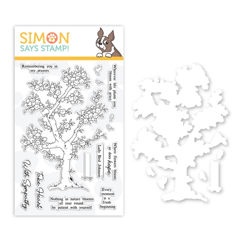 RESERVE Simon Says Stamps And Dies BLOSSOMING set0319bg Fresh Bloom Preview Image