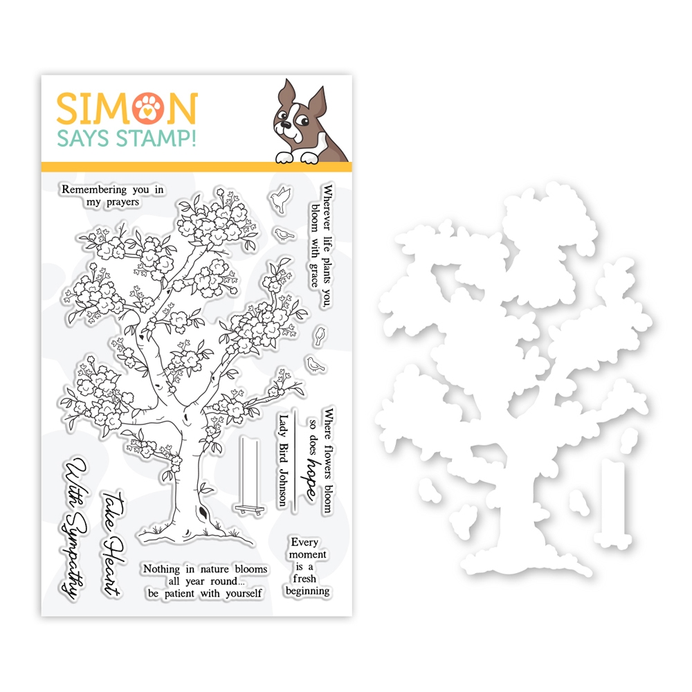 RESERVE Simon Says Stamps And Dies BLOSSOMING set0319bg Fresh Bloom zoom image