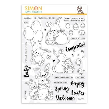 RESERVE Simon Says Clear Stamps BUNNY WISHES sss201963 Fresh Bloom