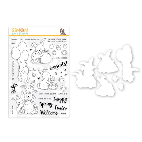 Simon's Exclusive Bunny Wishes Stamp and Die Set