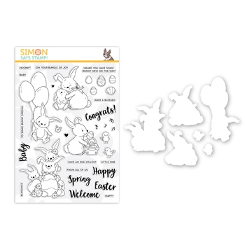 Simon Says Stamps And Dies BUNNY WISHES set0319bw Fresh Bloom