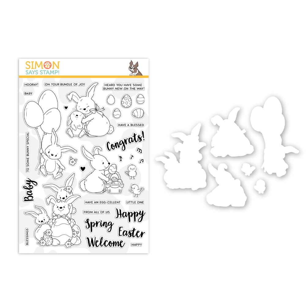 Simon Says Stamps And Dies BUNNY WISHES set0319bw Fresh Bloom zoom image