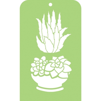 Kaisercraft SUCCULENTS Mini Designer Stencil Template IT052
