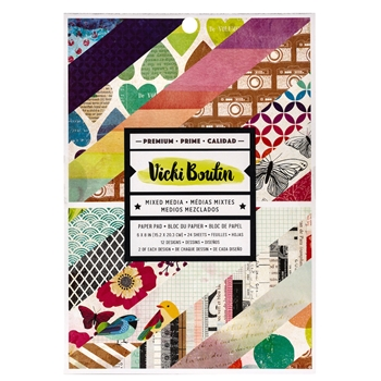 American Crafts Vicki Boutin 6x8 COLOR KALEIDOSCOPE Paper Pad 351100