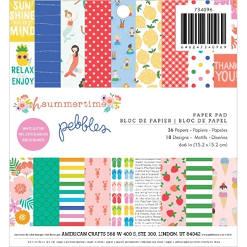 Pebbles Inc. OH SUMMERTIME 6x6 Inch Paper Pad 734096