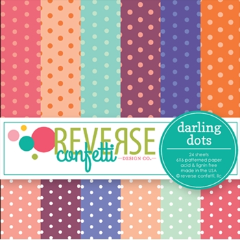 Reverse Confetti DARLING DOTS 6x6 Inch Paper Pad