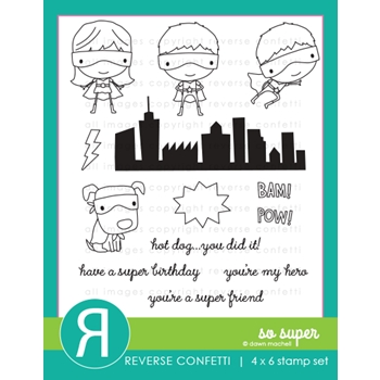 Reverse Confetti SO SUPER Clear Stamps
