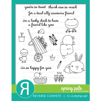 Reverse Confetti SPRING PALS Clear Stamps