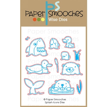 Paper Smooches SPLASH ICONS Wise Dies M1D428